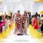 Beautiful-bride-groom-walking-down-the-isle-on-stage-1