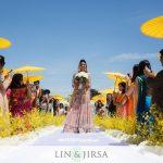 Beautiful-bride-walking-down-the-isle-on-stage-1