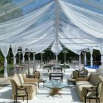 Flat-Pool-Cover-with-White-Carpet-Drapped-White-top-tent-with-Chiffon-3