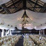Indoor-Ceiling-Drapery-with-White-Sheer-Fabric-Twinkle-Lights