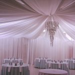 Indoor-Full-Ceiling-Drapery-with-White-Satin