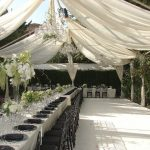 Outdoor-Open-Tent-no-walls-with-White-Satin-Drapery