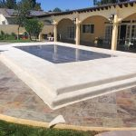 Stage-Pool-Cover-with-Plexi-Glass-White-Carpet