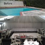 Tent-Built-on-Top-of-Pool-Cover-with-White-Dance-Floor